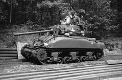Taking out the Sherman (Ronald_H) Tags: m4 sherman wwii tank jch 400 bw film 2019 streetpan washiz washi