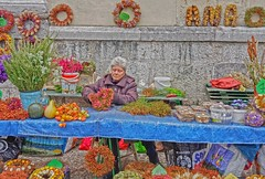 Ljubljana Flower Market 20191009_113105 (JKIESECKER) Tags: wreathes ljubljana slovenia markets crafts cityscenes citylife citystreets portrait peopleportraits flowers