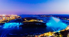 Niagara Falls at the blue hour seen from Skylon Tower 2019-12 (ladgon) Tags: canada canoneosrp canon niagarafalls niagara skylontower bluehour dusk