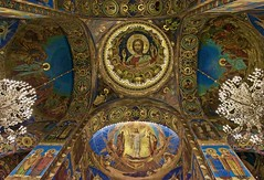 the dramatic Church of the Savior on Spilled Blood (somabiswas) Tags: church savioronspilledblood interiors cathedral artwork travel religious