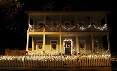 White light highlights (Monceau) Tags: christmas lights night nightime decorations