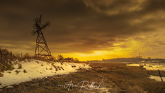 Alresford Winter Dusk (Aron Radford Photography) Tags: alresford colchester essex east anglia uk landscape quarry stone pit pulley snow winter sunset dusk estuary creek water