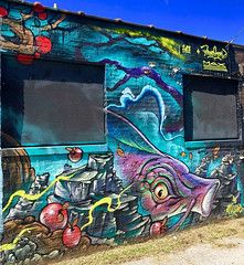 Aqua Life by Max Sansing & Bruno Smoky (wiredforlego) Tags: graffiti mural streetart urbanart aerosolart publicart chicago illinois ord maxsansing brunosmoky