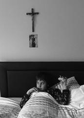 Jonah in Nonna's bed. (metamodule) Tags: