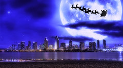 Santa Claus is coming to town!!! (dougsooley) Tags: santa sandiego skylines skyscape photoshopart photoshop cityscapes citynight city cities california cali southerncalifornia dougsooley canon canon1dx canonlenses canonlens