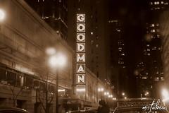 Goodman Theatre Glow (mistabeas2012) Tags: goodman theatre chicago sepia