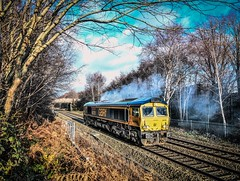 66751 near Dosthill (robmcrorie) Tags: 66751 class 66 gbrf 0d44 bescot toton light engine clag dosthill warwickshire