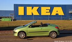 My Peugeot 206 CC 2.0i 16V (2002) (XBXG) Tags: 4tpl34 peugeot 206 cc 20i 16v peugeot206 vert maori green cabriolet cabrio convertible roadster tourer laan van decima laanvandecima haarlem nederland holland netherlands paysbas youngtimer french car auto automobile voiture française frankrijk vehicle outdoor ikea