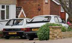 C326 FHJ (2) & A571 ROO (Nivek.Old.Gold) Tags: 1984 saab 900 turbo 3door 1985cc roycastleco 1985 peugeot 205 grd 1769cc