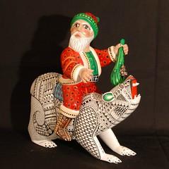 Polar Bear Santa Mexican Wood Carving (Teyacapan) Tags: oaxacan alebrijes polarbear santaclaus mexico christmas navidad