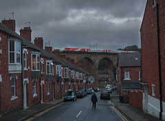 Street life (Robert France) Tags: 2019 brel britain britishrailengineering cables catenary departmentoftransport dft drivingvantrailer durham durhamviaduct dvt eastcoast eastcoastmainline ecml electricpower electricrailway england express expresstrain expresstrains gec highspeedtrains intercity intercity225 intercitytrain lner locomotive londonandnortheasternrailway londonnortheasternrailway mark4 mk4 mk4dvt nationalisation nationalised nationalization nationalized olr operatoroflastresort overheadline passengertrain publictransport railroad railway railwayviaduct railways s staterun town towncentre train trains transport travel traveling travelling uk unitedkingdom urbanrailway viaduct