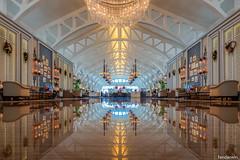 The Fullerton Bay Hotel Lobby, Singapore (Explored 12/25/2019) (fandarwin) Tags: the fullerton bay hotel lobby singapore reflection darwin fan fandarwin olympus omd em10