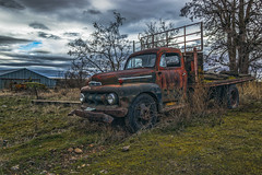 Fading Ford (PNW-Photography) Tags: rusty rust dust dusty abandoned derelict vintage classic ford truck trucks pickup washington easternwashington ewan