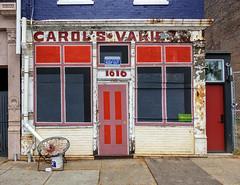 Carol's Variety (J Wells S) Tags: carolsvariety store storefront findlaymarket overtherhine cincinnati ohio streetscene urban urbandecay abandoned otr doorsandwindows