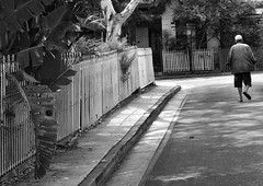 life's long journey (gro57074@bigpond.net.au) Tags: street bw man monochrome mono blackwhite nikon alone candid suburbia streetphotography monotone monochromatic backstreet tamron 2470mmf28 d850 guyclift life'slongjourney sydney f80 newtown december2019