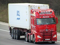 Jeffreys Transport, Mercedes Actros (FN64PBY) On The A1M Northbound (Gary Chatterton 8 million Views) Tags: jeffreystransport mercedestrucks mercedesactros fn64pby shippingcontainer trucking wagon lorry haulage distribution logistics motorway flickr canonpowershotsx430 photography