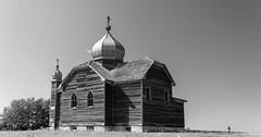 Prairie Castle (TigerPal) Tags: saskatchewan sask exploration prairie plains rural fosston church ukrainian monochrome abandoned forgotten orthodox