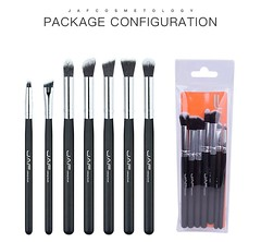 Retail JAF 7-piece Makeup Eye Brushes Set Brushes Make Up Shader Blending Brush for Eye Shadow Makeup Accessory JE07ST (alaaxprss) Tags:
