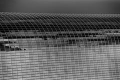 People Who Work in Glass Houses (Thomas Hawk) Tags: america california dtla downtownlosangeles losangeles southerncalifornia usa unitedstates unitedstatesofamerica architecture bw socal fav10 fav25 fav50