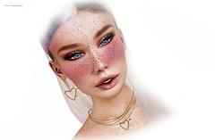 ✞Winter Blush✞ (YanaNIghtwish) Tags: seconlife sl freckles blush winter pretty blue eyes piercing devil naanaa hoodlem face portreit black dragon