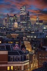 Christmas In London (JH Images.co.uk) Tags: london city skyline sky sunrise sunset colour stpauls stpaulscathedral cityscape cityoflondon illuminated illumination skyscraper skyscrapers gherkin tower42 christmastree