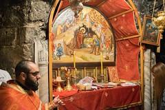 Χριστὸς γεννᾶται· δοξάσατε - Christ is Born! Glorify Him! (KostasMo) Tags: bethlehem cave divine liturgy greek orthodox nikon d3300 ορδόδοξια θεία λειτουργία σπήλαιο βηθλεέμ