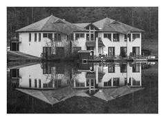 Nice place for a break at Lake Kell (werner-marx) Tags: analog film meinfilmlab 35mm canonftb ilforddelta3200 kellamsee lakekell reflection filmgrain