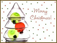 Merry Christmas! (Karen_Chappell) Tags: xmas noel holiday white green red tree glass product christmas merrychristmas decor decoration ornament ornaments stilllife text christmastree colour color colors colourful