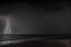 Lightning on the Beach (Klaus Ficker --Landscape and Nature Photographer--) Tags: canon eos5dmarkiv stormscape cloudscape landscape weather nature awesomenature storm clouds cloudsday cloudsofstorms cloudwatching stormcloud weatherphotography photography photographic weatherspotter chase chasers weatherphotos sky magicsky darksky darkclouds stormyday stormchasingstorm chaserssky chasersstorm watching dramatic outdoor lightning sturm gewitter blitz amazing beautiful thunderheads thunderstorm wolken blitze donner wetter klausficker themesky