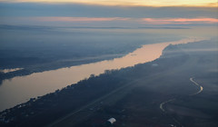 Sava River Misty Sunset (Andy.Gocher) Tags: andygocher nikon d3500 europe serbia sava river sunset windowseat aeroplaneseat aeroplanewindow aerial mist misty mistandfog fog