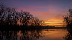 Sunrise along the Grand River...... (Kevin Povenz Thanks for all the views and comments) Tags: 2019 december kevinpovenz westmichigan michigan ottawa ottawacounty ottawacountyparks outdoors outside grandravinesnorth grandriver water reflection trees sunrise early earlymorning