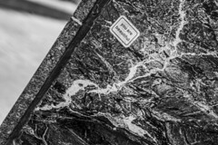 (jfre81) Tags: chicago downtown loop wabash street jewelers row marble exterior wall texture black white blackandwhite bw monochrome minimalism art sticker you beautiful diagonal tilt 312 windy second city urban james fremont photography jfre81 canon rebel xs eos