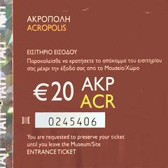 "Eintrittskarte Akropolis • <a style=""font-size:0.8em;"" href=""http://www.flickr.com/photos/79906204@N00/49273847038/"" target=""_blank"">View on Flickr</a>"