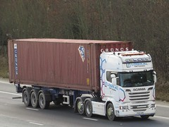 Logikal Network, Scania R730 (PX14SXR) On The A1M Northbound (Gary Chatterton 8 million Views) Tags: logikalnetwork scaniatrucks scaniar730 shippingcontainer px14sxr trucking wagon lorry haulage distribution logistics transport motorway flickr canonpowershotsx430 photography