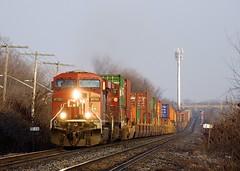 CP 143 (Michael Berry Railfan) Tags: cp8755 cp8546 cp canadianpacific cp143 train freighttrain intermodaltrain stacktrain doublestacks ge generalelectric gevo es44ac vaudreuilsub beaconsfield montreal quebec