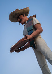 Mexican Statue in Malibu, California (ChrisGoldNY) Tags: chrisgoldphoto chrisgoldny chrisgoldberg bookcovers albumcovers licensing sony sonyimages sonyalpha sonya7rii malibu california socal westcoast usa america mexican statue sculpture restaurant weird strange odd dusk magichour mustache sombrero funny winterlight