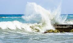 Waves breaking at Pyrgos (George Plakides) Tags: waves sea pyrgos argaka cyprus mediterrenean spray water white foam