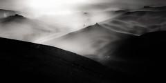 The light. (Fabrizio Massetti) Tags: bw tuscany toscana tree twilight hills fabriziomassetti fog clouds light