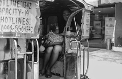 Sweet Sleep (risingthermals) Tags: philippines pilipinas filipinos pilipinos pinoys humans humanity candid street photography tropical country southeast asians everyday life scenes capture experiences unposed natural people blackwhite city urban woman sitting down sleeping student uniform tired rest ride commuting commuter commute maynila