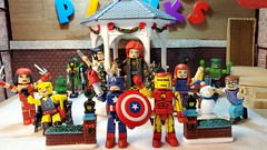 Merry Christmas! - Bijou Planks 359/365 (MayorPaprika) Tags: mini figs figure paprihaven pvc miniature smallscale figurine diorama toy story scene custom paint bricks plastic vinyl theater bijouplanks samsungnote10 plus smn975u elektra daredevil doctordoom wolverine logan jeangrey phoenix captainamerica ironman maryjane peterparker spiderman hulk minimates artasylum diamonddirect