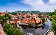 In a Nutshell (dlerps) Tags: amount cz ceskykrumlov czech czechrepublic daniellerps eu europeeuropa lerps photography sony sonyalpha sonyalpha99ii sonyalphaa99mark2 sonyalphaa99ii httplerpsphotography lerpsphotography river panorama wideangle water carlzeiss vltava carlzeissdistagon24mmf20 distagont224 skyline roof rooftops distagon2420za oldtown unesco