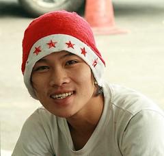 market vendor (the foreign photographer - ฝรั่งถ่) Tags: man market vendor yingcharoen sapan mai bangkhen bangkok thailand canon