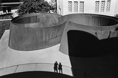 Double Selfie, Cantor Museum, Stanford University (Postcards from San Francisco) Tags: m6 35mmsummicroniv trix rodinal yellowfilter film analog paloalto california stanforduniversity