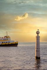 Summer morning in Lisbon (SemiXposed) Tags: lisbon portugal lisboneuropeboatvacationholidayseagullwaterriver cloudsskysunsetlandscapeferry boat tejo tagus capital europe amazing summer