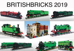 BRITISHBRICKS 2019 (Britishbricks) Tags: lego custom moc train engine steam loco l1 p2 lner j94 j72 hall class hogwarts express gwr building