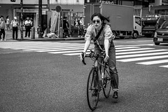 Tokyo 2019 (burnt dirt) Tags: shibuya tokyo japan asia japanese asian candid documentary street photography downtown metro urban city scramble crossing outdoor people person fujifilm xt3 fujinon 50mm f2 bw blackandwhite monotone monochrome woman girl smile laugh train station style fashion bike bicycle life real crowd tourist emotion expression portrait close nippon