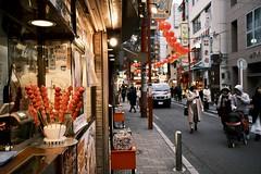 The red trail (tokyoshooter) Tags: xpro3 f2 fujicron 23mm fujinon fujifilm chinatown red yokohama japan