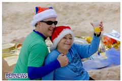 BerNews Photo of Christmas on the Beach in Bermuda
