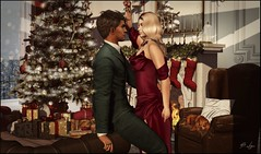 All I Want for Christmas (Broderick Logan) Tags: secondlife sl second life 2nd 2ndlife avi avatar digital art picture romance couple brodericklogan broderick logan enaroane ena roane romantic love husband wife couples christmas mistletoe holiday