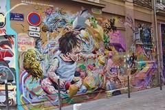 ArtDekaley_7560 rue des Augustins Lyon 01 (meuh1246) Tags: streetart lyon animaux artdekaley ruedesaugustins lyon01 enfant oiseau hibou chouette